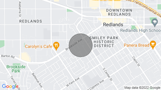 Cozy craftsman home, near Old Town Redlands Map
