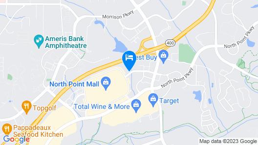 Sonesta ES Suites Atlanta North Point Mall Map