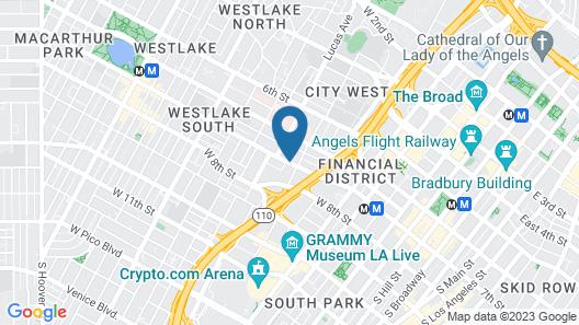 DTLA Hotel Map