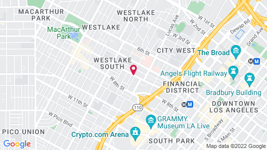 The Mayfair Hotel Los Angeles Map