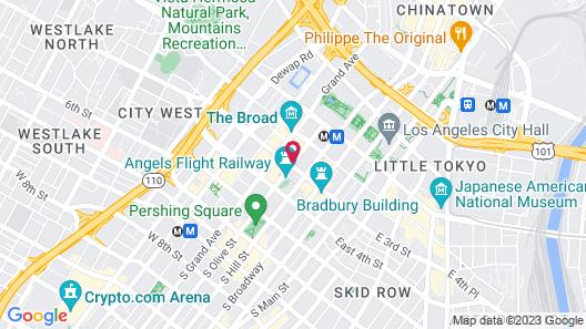 Omni Los Angeles Hotel at California Plaza Map
