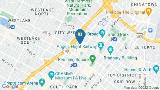 The Westin Bonaventure Hotel and Suites, Los Angeles Map