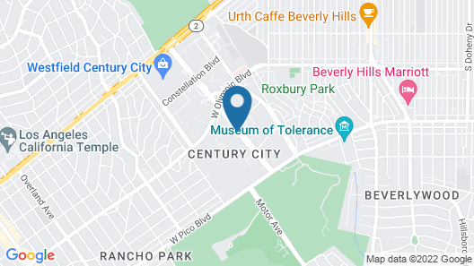 InterContinental Los Angeles Century City at Beverly Hills Map