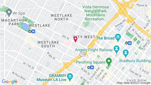 New Downtown LA Luxury Jr. Penthouse Map