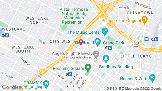 The L.A. Grand Hotel Downtown Map