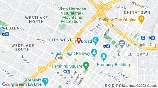 The LA Grand Hotel Downtown Map