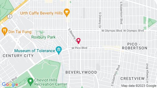 Beverly Hills Marriott Map