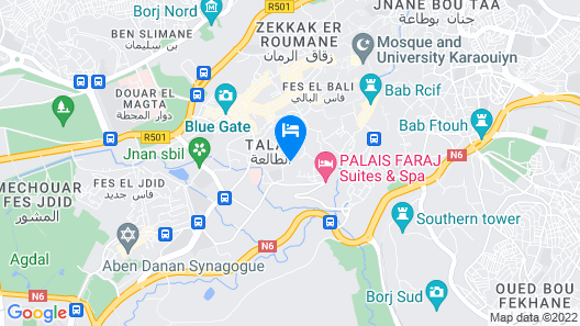 Riad Mazar Fes Map
