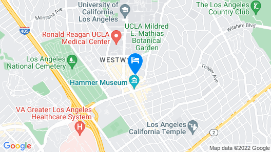 Resort Style Apartments near UCLA Map