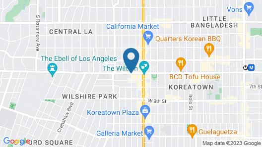 Ramada by Wyndham Los Angeles/Koreatown West Map