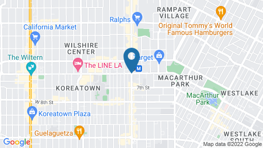 Downtown LA Fully Furnished Apartment Map
