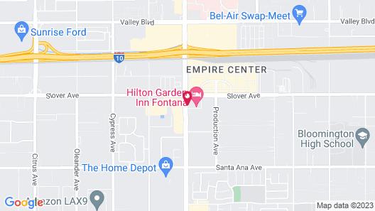 Hilton Garden Inn Fontana Map