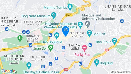 Riad Myra Hotel Map