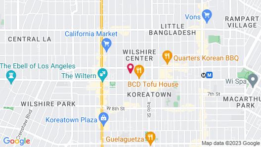 JJ Grand Hotel - Wilshire Map