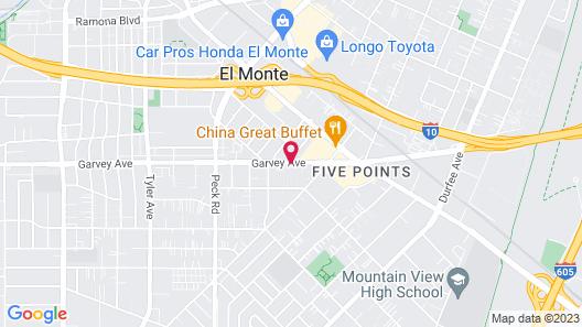 Le Blanc Inn & Suites Map