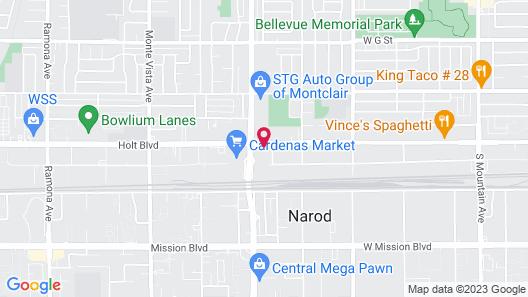 Ontario Inn & Suites Map