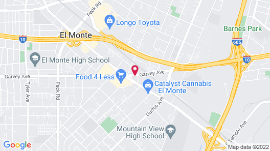 Americas Best Value Inn & Suites El Monte Los Angeles Map