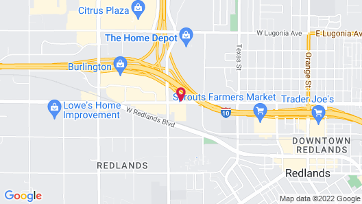 Motel 6 Redlands, CA Map
