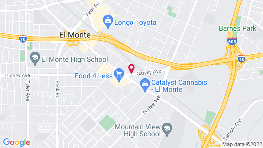 Aqua Inn Motel Map