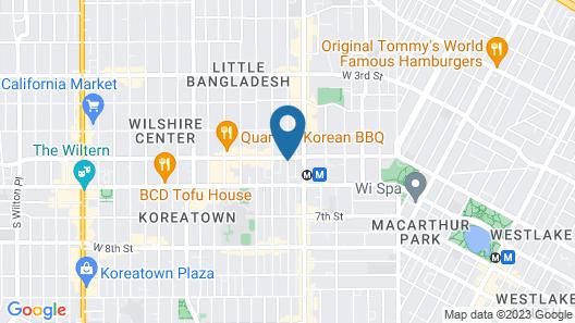 Best Western Plus LA Mid Town Hotel Map