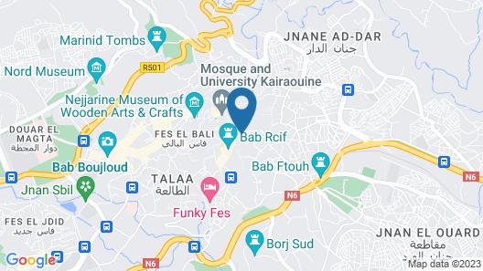 Riad El Bacha Map