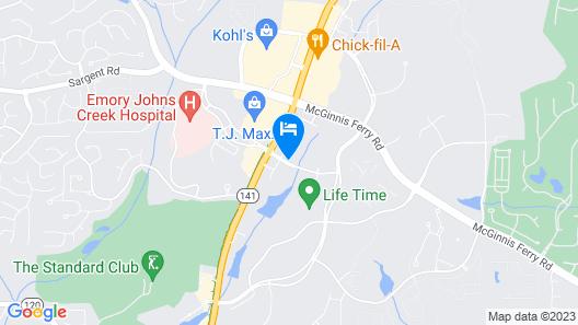 Hampton Inn & Suites Johns Creek Map