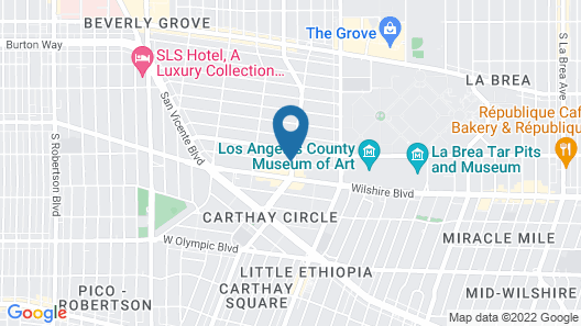 Wilshire Crest Hotel Los Angeles Map