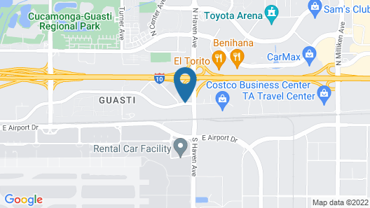 Embassy Suites Ontario Airport Map