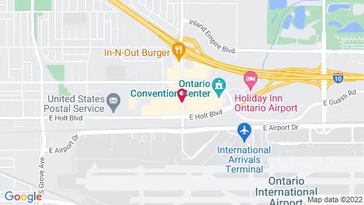 DoubleTree by Hilton Ontario Airport Map