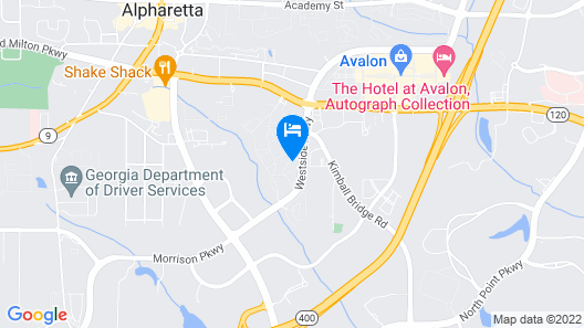 Fabulous Fully-furnished Apartment in Alpharetta Map