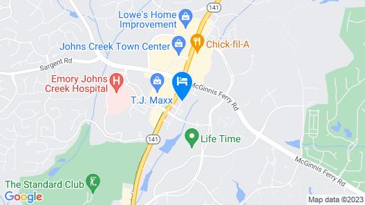 Hilton Garden Inn Atlanta North/Johns Creek Map