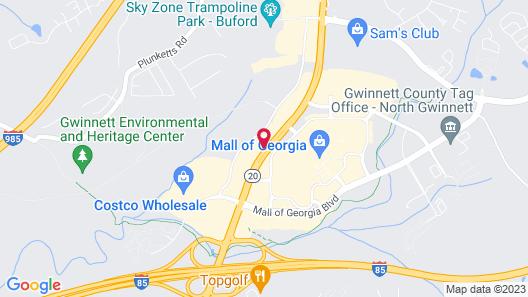 Hampton Inn Atlanta-Mall of Georgia Map