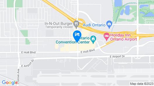 Motel 6 Ontario, CA - Convention Center - Airport Map