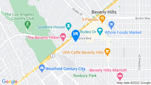 The Mosaic Hotel - Beverly Hills Map