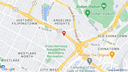 Knights Inn Downtown Los Angeles Map
