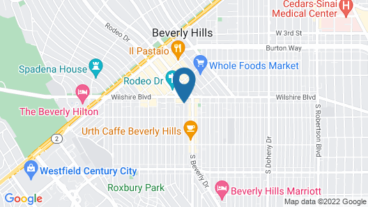 Beverly Wilshire - Beverly Hills, A Four Seasons Hotel Map