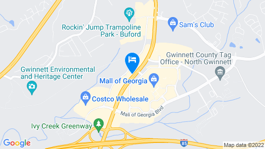 SpringHill Suites by Marriott Atlanta Buford/Mall of Georgia Map