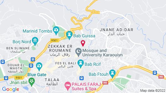 Palais Amani Map