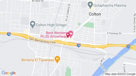 Best Western Plus Arrowhead Hotel Map