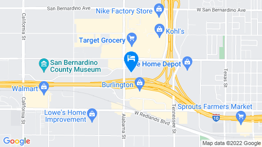 Super 8 by Wyndham Redlands/San Bernardino Map