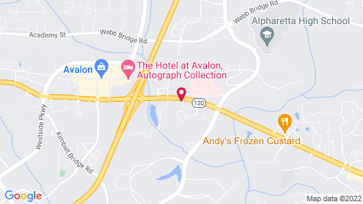 Extended Stay America Suites Atlanta Alpharetta Northpoint W Map