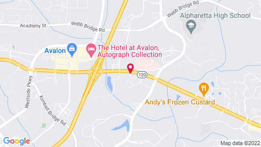 Extended Stay America - Atlanta - Alpharetta-Northpoint-East Map