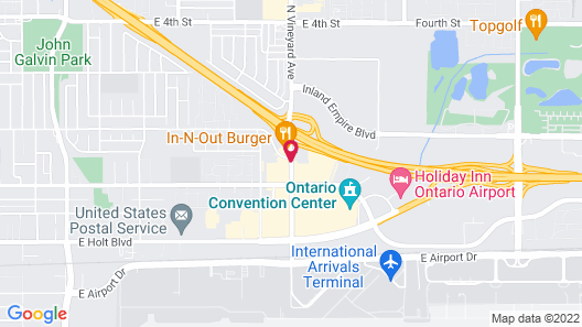 Quality Inn Ontario Airport Convention Center Map
