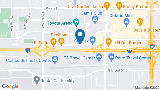 Extended Stay America Los Angeles - Ontario Airport Map