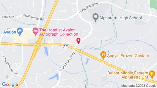 Sonesta ES Suites Atlanta Alpharetta Avalon Map