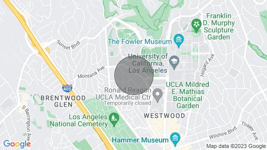 Bright Westwood 1BR w/ Gym, Walk to Westwood Village, by Blueground Map