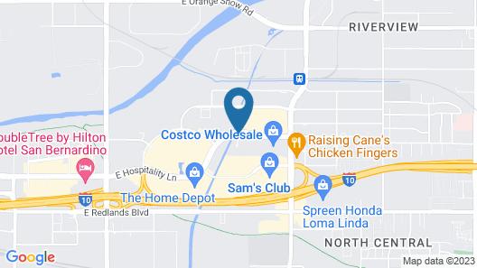 Hampton Inn & Suites San Bernardino Map