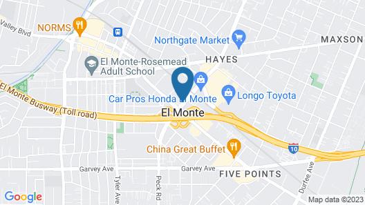 Motel 6 El Monte, CA - Los Angeles Map