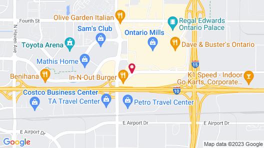 Ayres Hotel Ontario at the Mills Mall Map