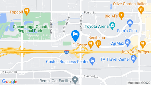 Hotel d'Lins Ontario Airport Map